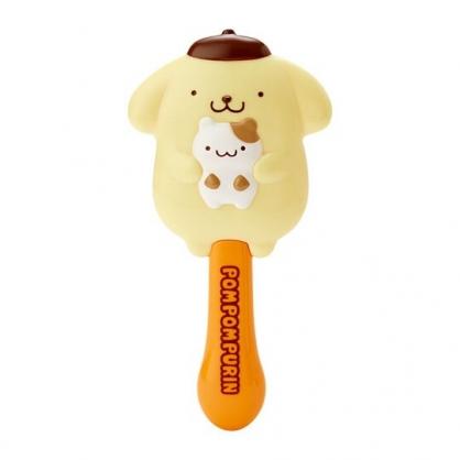 〔小禮堂〕布丁狗 全身造型塑膠氣墊手握梳《黃橘》氣墊梳.直梳