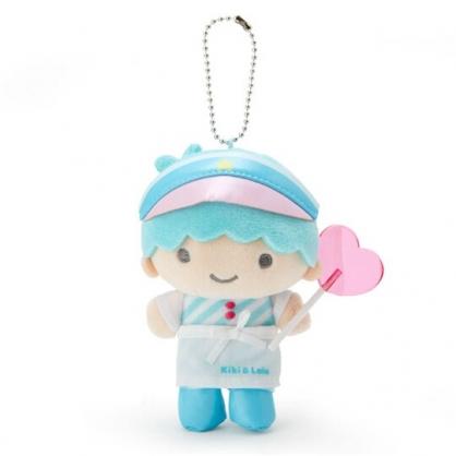 〔小禮堂〕雙子星KIKI 絨毛玩偶娃娃吊飾《藍白》掛飾.鑰匙圈.夢幻糖果店系列