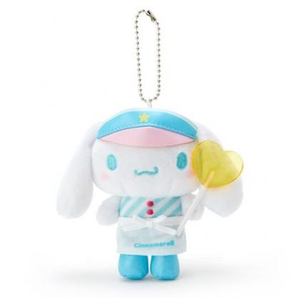 〔小禮堂〕大耳狗 絨毛玩偶娃娃吊飾《藍白》掛飾.鑰匙圈.夢幻糖果店系列