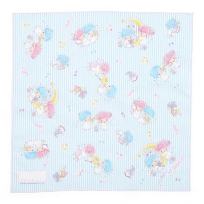 〔小禮堂〕雙子星 日製棉質便當包巾《藍白》43x43cm.手帕.餐巾.桌巾.雲朵音符系列