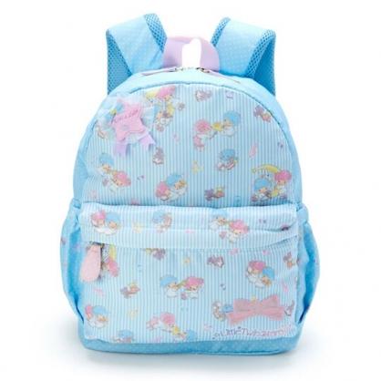 〔小禮堂〕雙子星 兒童尼龍拉鍊後背包《藍白》書包.雙肩包.雲朵音符系列