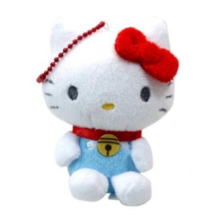 〔小禮堂〕Hello Kitty 絨毛玩偶娃娃吊飾《藍.哆啦A夢》掛飾.鑰匙圈.鎖圈