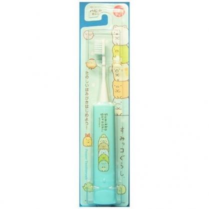 〔小禮堂〕角落生物 日製電動牙刷《綠.疊坐》學童牙刷.盥洗用品