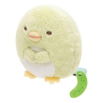 〔小禮堂〕角落生物 企鵝 迷你沙包絨毛玩偶娃娃《綠.坐姿》擺飾.玩具