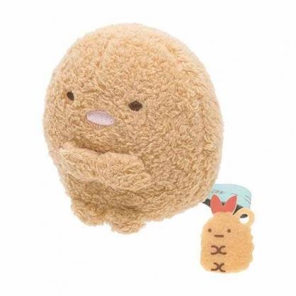 〔小禮堂〕角落生物 豬排 迷你沙包絨毛玩偶娃娃《棕.坐姿》擺飾.玩具