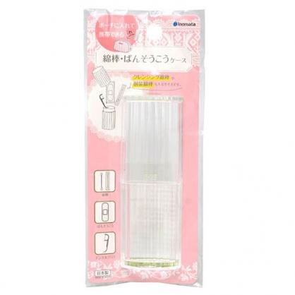 〔小禮堂]日本INOMATA 日製透明塑膠棉花棒收納罐《透明》置物罐.棉花罐.牙線罐