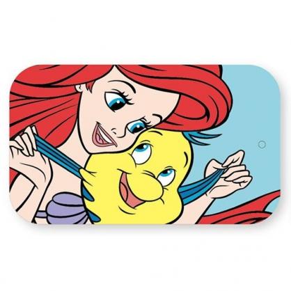 〔小禮堂〕迪士尼 小美人魚 一字型鐵製髮夾組附鐵盒《綠黃.對看》瀏海夾.小黑夾.髮飾
