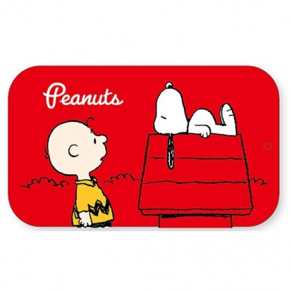 〔小禮堂〕史努比 一字型鐵製髮夾組附鐵盒《紅白.躺屋頂》瀏海夾.小黑夾.髮飾