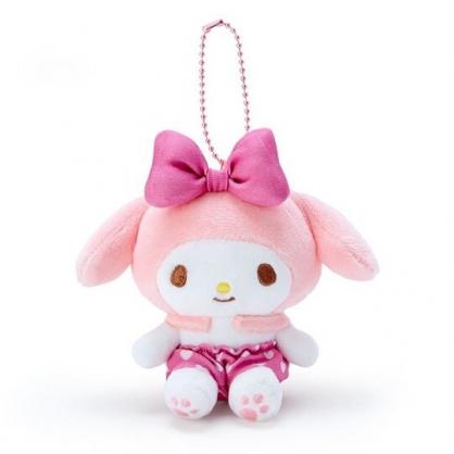 〔小禮堂〕美樂蒂 絨毛玩偶娃娃吊飾《粉褲.愛心印花》掛飾.鑰匙圈