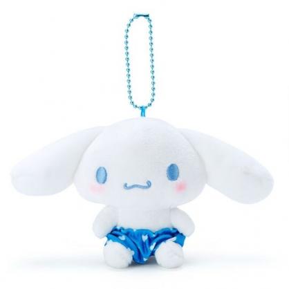 〔小禮堂〕大耳狗 絨毛玩偶娃娃吊飾《藍褲.愛心印花》掛飾.鑰匙圈