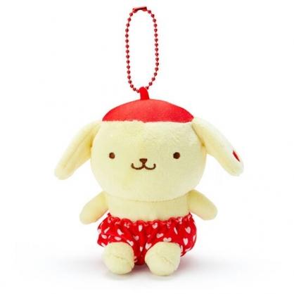 〔小禮堂〕布丁狗 絨毛玩偶娃娃吊飾《紅褲.愛心印花》掛飾.鑰匙圈