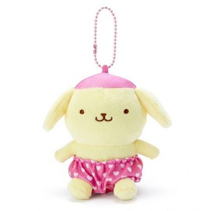 〔小禮堂〕布丁狗 絨毛玩偶娃娃吊飾《粉褲.愛心印花》掛飾.鑰匙圈