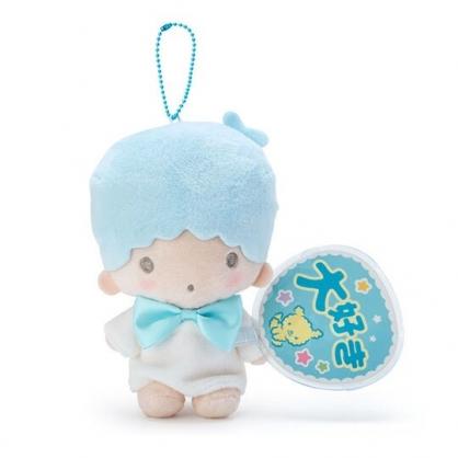〔小禮堂〕雙子星 KIKI 絨毛玩偶娃娃吊飾《藍白.扇套》掛飾.演唱會粉絲收納系列