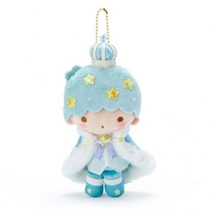 〔小禮堂〕雙子星 KIKI 絨毛玩偶娃娃吊飾《綠白》掛飾.鑰匙圈.星星皇冠系列