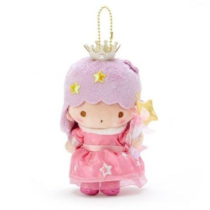 〔小禮堂〕雙子星 LALA 絨毛玩偶娃娃吊飾《粉紫》掛飾.鑰匙圈.星星皇冠系列