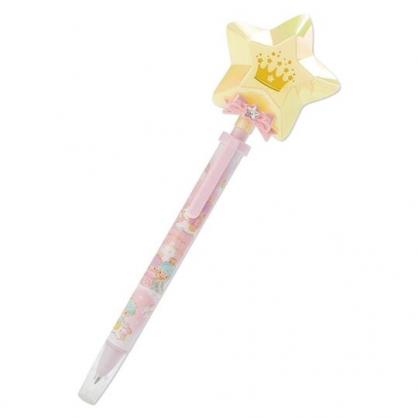 〔小禮堂〕雙子星 LED發光星星造型原子筆《粉》黑筆.造型筆.星星皇冠系列