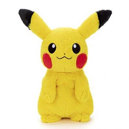 〔小禮堂〕神奇寶貝Pokemon皮卡丘 沙包絨毛玩偶娃娃《M.黃.站姿》擺飾.沙包玩具