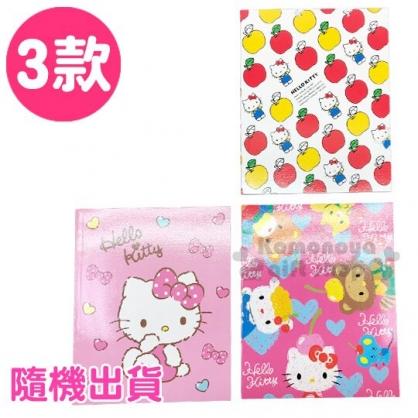 〔小禮堂〕Hello Kitty 膠裝左翻橫線筆記本《B5.3款隨機.粉/桃/白》橫線記事本.手札.手記