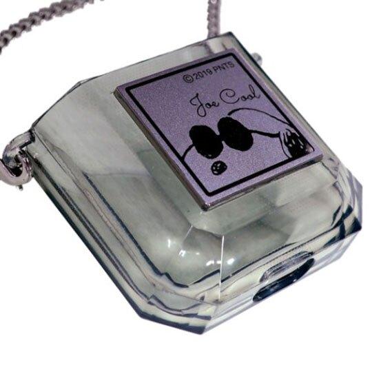 〔小禮堂〕史努比 Airpods 香水瓶造型塑膠藍牙耳機殼《灰銀》Apple Airpods收納套