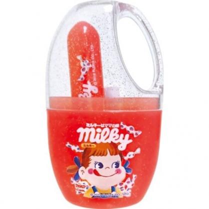 〔小禮堂〕不二家PEKO 日製杯裝旅行牙刷組《紅.大臉》盥洗用品.口腔清潔