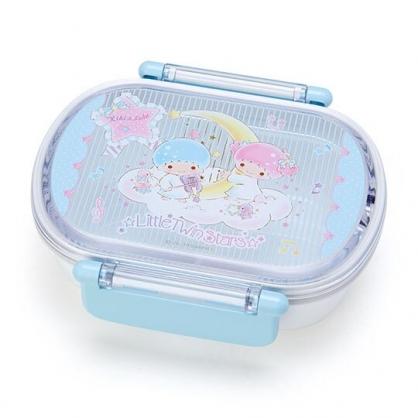 〔小禮堂〕雙子星 日製方形雙扣便當盒《藍白》保鮮盒.食物盒.餐盒.雲朵音符系列