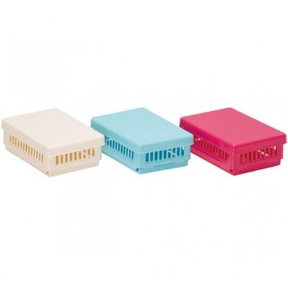 〔小禮堂〕山田化學 日製方形塑膠折疊收納盒《3款隨機.藍/桃/米》置物盒.保鮮盒