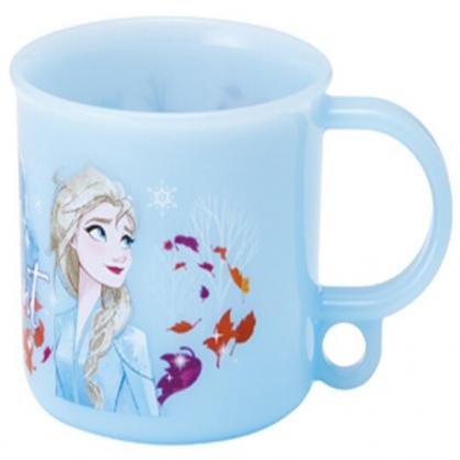 〔小禮堂〕迪士尼 冰雪奇緣 日製單耳塑膠小水杯《藍.仰望》200ml.漱口杯.茶杯