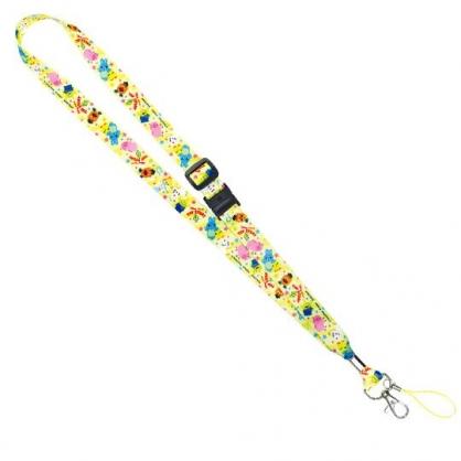 〔小禮堂〕迪士尼 玩具總動員4 多功能頸繩《黃.星星》掛飾.頸掛繩.證件帶