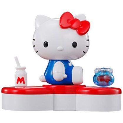 〔小禮堂〕Hello Kitty 45週年超合金塑膠公仔收納盒組《紅白》紀念公仔.模型