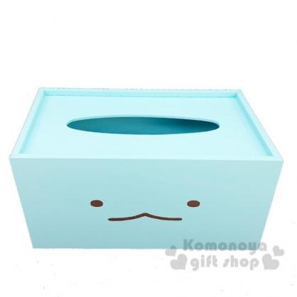 〔小禮堂〕角落生物 恐龍 木製滑蓋面紙盒《藍.大臉》紙巾盒.收納盒