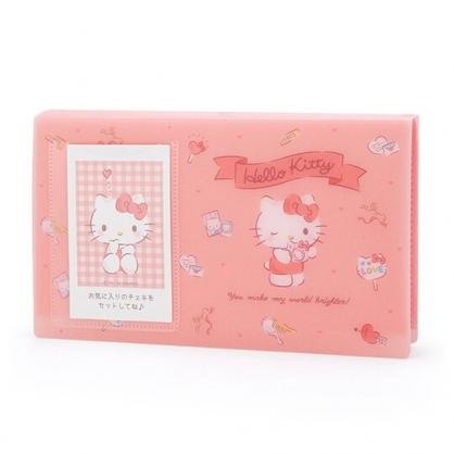 〔小禮堂〕Hello Kitty 10頁直式拍立得收納本相本《粉》相簿.資料本.演唱會粉絲收納系列
