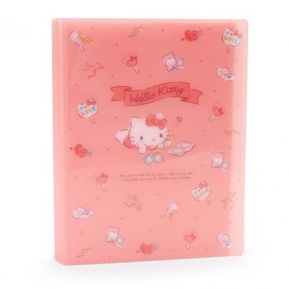 〔小禮堂〕Hello Kitty 20頁直式相片收納本相本《粉》相簿.資料本.演唱會粉絲收納系列