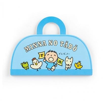 〔小禮堂〕大寶 日製手提包造型自黏便利貼《藍》標籤貼.N次貼.朝氣運動系列