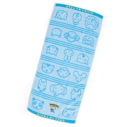 〔小禮堂〕大寶 純棉無捻紗長毛巾《藍》34x76cm.長巾.朝氣運動系列