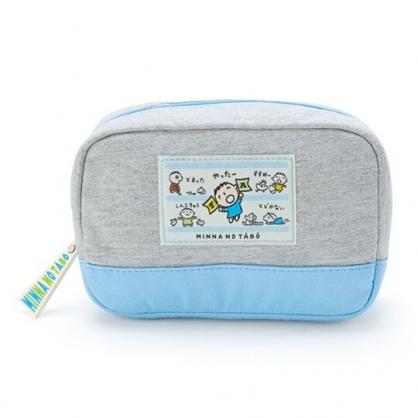 〔小禮堂〕大寶 方形棉質拉鍊化妝包《灰》萬用包.收納包.朝氣運動系列