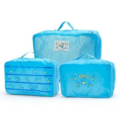 〔小禮堂〕大寶 尼龍方形衣物收納袋組《3入.藍》網袋.盥洗包.朝氣運動系列