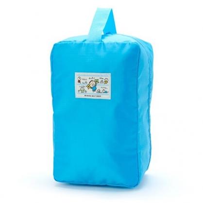 〔小禮堂〕大寶 方形尼龍拉鍊手提鞋袋《藍》收納袋.手提袋.朝氣運動系列