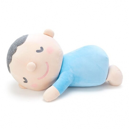 〔小禮堂〕大寶 趴姿絨毛玩偶娃娃《XL.藍》抱枕.靠枕.朝氣運動系列