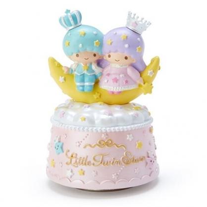 〔小禮堂〕雙子星 造型陶瓷音樂擺飾《粉黃》家飾.星星皇冠系列