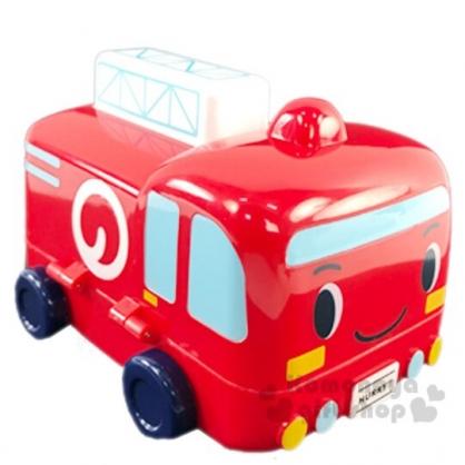 〔小禮堂〕RB工程車 消防車造型塑膠掀蓋收納盒《紅》置物盒.飾品盒