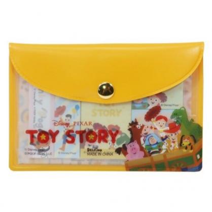 〔小禮堂〕迪士尼 玩具總動員 自黏便利貼附收納包《橘棕.箱車裡》N次貼.書籤貼.標籤貼