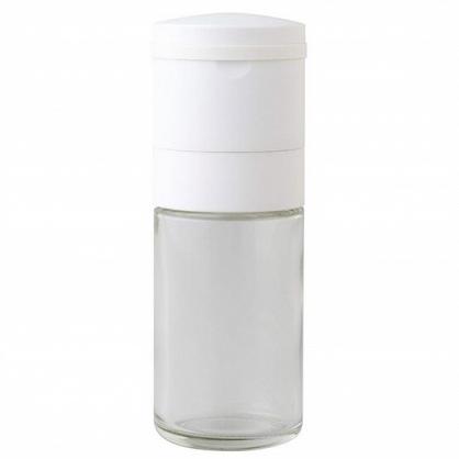 〔小禮堂〕日本ARNEST 日製玻璃調味料研磨罐《白蓋》70ml.鹽罐.胡椒罐
