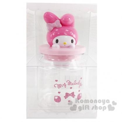 〔小禮堂〕美樂蒂 造型透明塑膠拿蓋收納罐《粉》置物罐.糖果罐