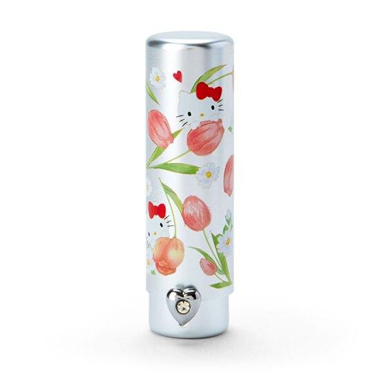 〔小禮堂〕Hello Kitty 攜帶型短柄化妝刷《粉銀》腮紅刷.刷具.春日花園系列