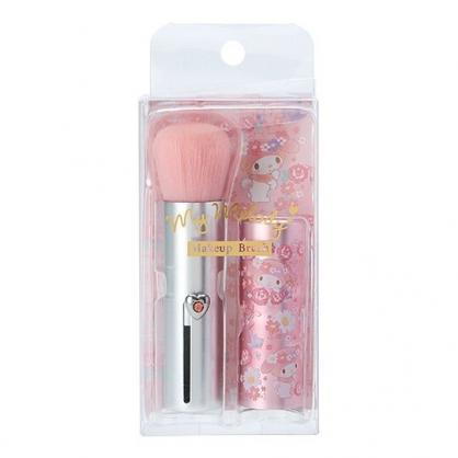 〔小禮堂〕美樂蒂 攜帶型短柄化妝刷《粉銀》腮紅刷.刷具.春日花園系列