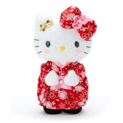 〔小禮堂〕Hello Kitty 和服絨毛玩偶娃娃《S.紅》新年娃娃.2020新春特輯