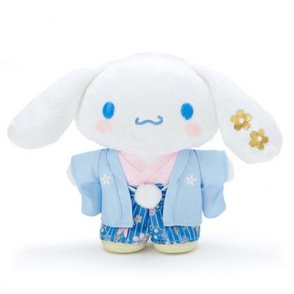 〔小禮堂〕大耳狗 和服絨毛玩偶娃娃《S.藍》新年娃娃.2020新春特輯