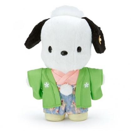 〔小禮堂〕帕恰狗 和服絨毛玩偶娃娃《S.綠》新年娃娃.2020新春特輯