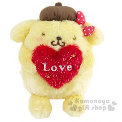 〔小禮堂〕布丁狗 絨毛玩偶娃娃《S.黃紅.抱愛心》擺飾.玩具