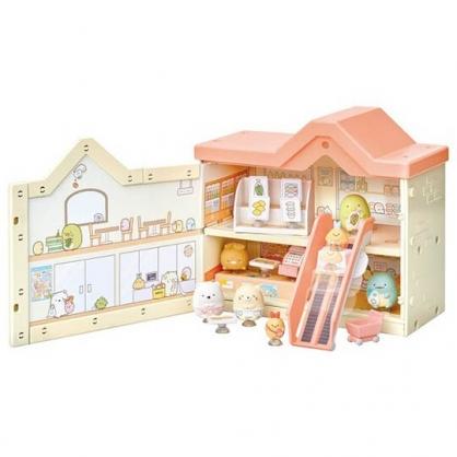 〔小禮堂〕角落生物 模型娃娃屋玩具《米黃.購物商店》模型.擺飾.公仔